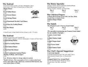 George and Louies Menu Pages 1 and 22