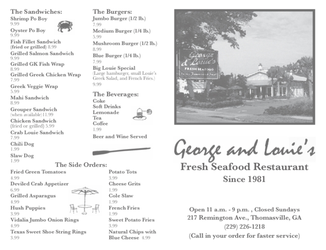 #45570 George and Louie's Menu Sept2018-1